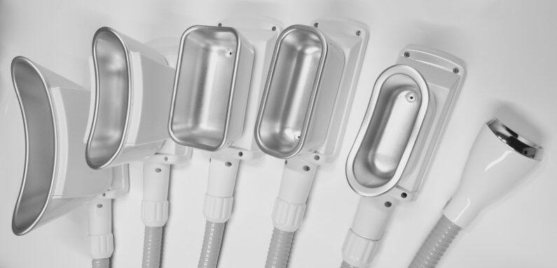 Kryolipolyse mit 100% Kühlfläche durch Komplett-Kälte Applikatoren